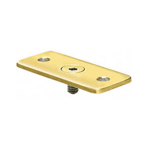 Polished Brass Optional Flat Hand Rail adaptor Plate for Hand Railing Bracket