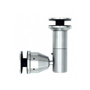 "Polished Stainless 90 Degree Swivel Glass-to-Glass Fitting for 1/2"" Glass"