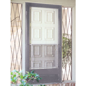 """CRL PSG1 Satin Anodized 30"""" to 36"""" Swinging Screen Door Grille"""