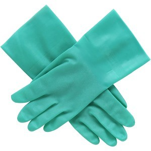 """Honeywell International, Inc HWLLA142G9 Nitrile Glove, Unsupported, Size 9, 12""""L, 15 mil , GN, Green by North"""