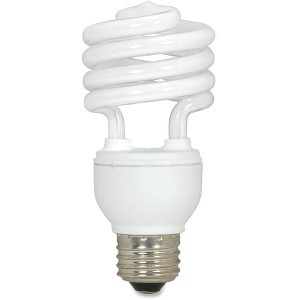 Satco SDNS7225 CFL Spiral Bulb T2, 18W, 1200 Lumens, White by Satco