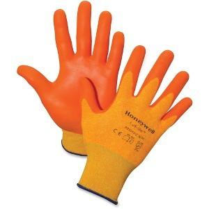 Honeywell International, Inc HWL395HVZM Tuff-Glo Nylon Gloves, Medium, Dipped, 12/Pr, Oe, Orange by Honeywell
