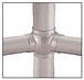 """CRL HR20BQBS Brushed Stainless 3-5/16"""" 135 Degree Ball Type Side Outlet Tees for 2"""" Tubing"""