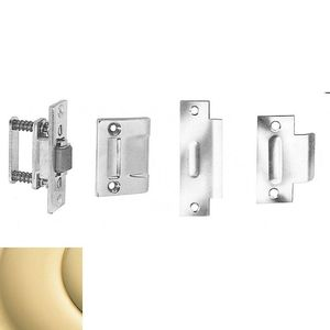 Baldwin 0432031 Roller Latch With T Strike Unlacquered Brass Finish