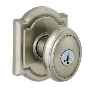 Baldwin Prestige 354CYKARB15S Entry Carnaby with Arch Rose with 6AL Latch, RCS Strike, and Smart Key Satin Nickel Finish