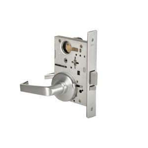 Stanley Best 45H7UNR15H626RH Mortise Lock 7 Pin Universal Classroom 15 Lever with H Rose Right Hand Satin Chrome Finish