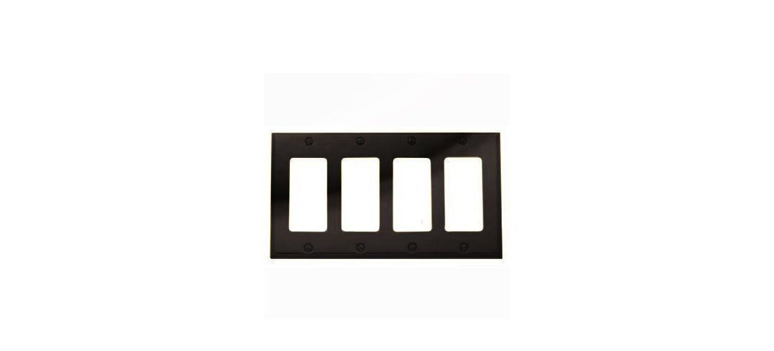 Baldwin 4742151 Quadruple GFCI Beveled Edge Switch Plate Antique Nickel
