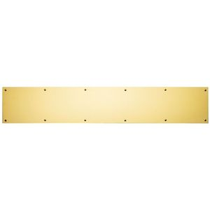 "Ives Commercial 84003434 4"" x 34"" Kick Plate Bright Brass Finish"