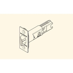 Baldwin Reserve 8BR0310001 UL Square Corner Adjustable Springlatch Lifetime Brass Finish