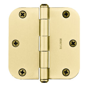 "Baldwin Reserve 9BR7024004 3-1/2"" x 3-1/2"" 5/8"" Radius Hinge Lifetime Brass Finish"