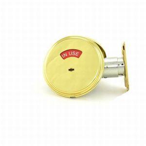 Schlage B571 605 Grade 2 Occupancy Indicator Deadbolt with 12287 Latch and 10094 Strike Bright Brass Finish