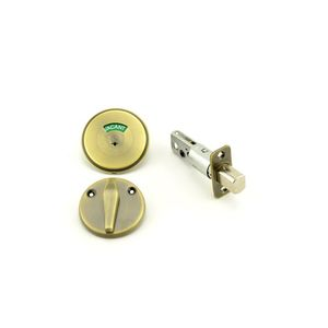 Schlage B571 609 Grade 2 Occupancy Indicator Deadbolt with 12287 Latch and 10094 Strike Antique Brass Finish