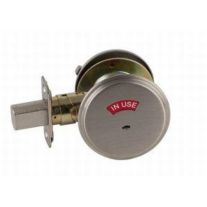 Schlage B571 619 Grade 2 Occupancy Indicator Deadbolt with 12287 Latch and 10094 Strike Satin Nickel Finish