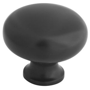 """Stanley National BB8011ORB National Hardware 1.26"""" Round Cabinet Knob S804-880 Oil Rubbed Bronze Finish"""