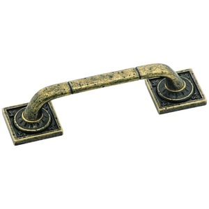 Amerock BP4482R2 Ambrosia 3-3/4 Inch Center to Center Handle Cabinet Pull Weathered Brass