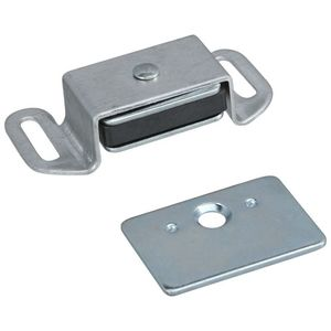 Stanley National CD46AL National Hardware Reversible Magnetic Cabinet Catch S711-075 Clear Coated Aluminum Finish
