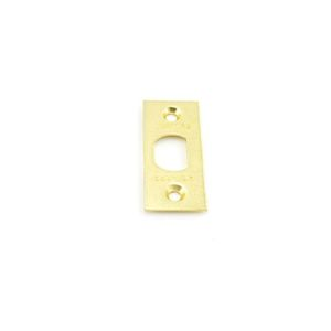 Schlage Residential F206476519 Square Corner Spring Latch Face Plate Bright Brass Finish