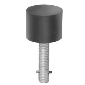 Ives Commercial FS18S Short Security Stop Black Finish
