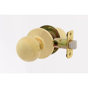 MaxGrade 100OXF3 Passage Door Knob Set from the Oxford Collection Bright Brass