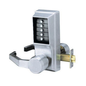 "Simplex LL101126D Left Hand Mechanical Pushbutton Lever Lock Combination Only, 2-3/4"" Backset Satin Chrome Finish"