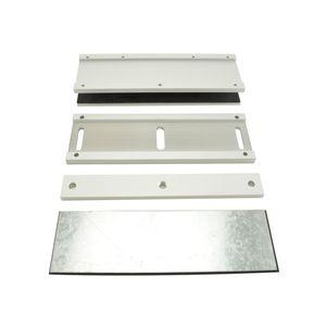 Locknetics MUBK Adjustable U Bracket for Both 600 Pound and 1200 Pound Maglocks Aluminum Finish