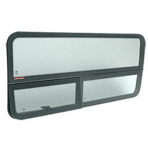 "CRL FW615R 2007+ 'All-Glass' Look Sprinter Van T-Vent Passenger Side Sliding Door Window for 170"" and 144"" Wheel Base Vans 49-7/16"" x 21-9/16"""