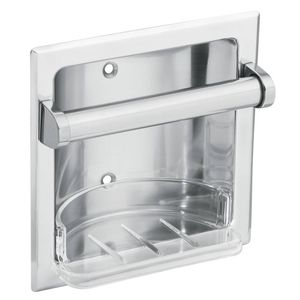 Moen 2565CH Commercial Recessed Soap Holder Bright Chrome Finish