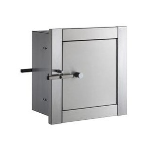 """Bobrick B50516 Recessed Heavy Duty Specimen Pass Through Cabinet with 6"""" Flange Satin Stainless Steel Finish"""