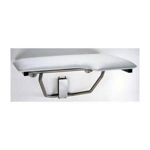 Bobrick B518 Left Hand Folding Shower Seat Satin Stainless Steel Finish