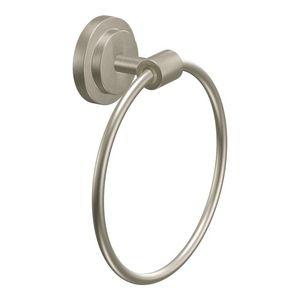 Moen DN0786BN Iso Towel Ring Brushed Nickel Finish
