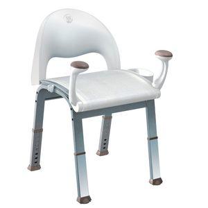 Moen DN7100 Mesh Shower Chair Glacier White Finish