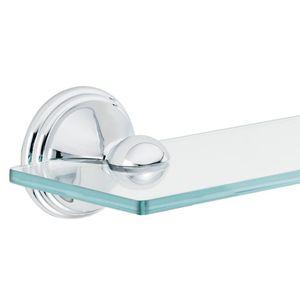 Moen DN8490CH Preston Glass Vanity Shelf Bright Chrome Finish