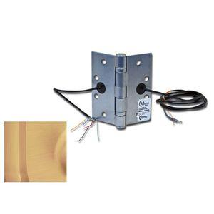 "Command Access Technologies ETH4W454510 4-1/2"" x 4-1/2"" Electric 4 Wire BB1279 Hinge Satin Bronze Finish"