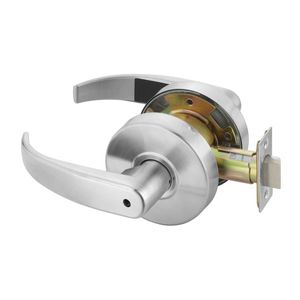 Yale Commercial PB4602LN626 Privacy Pacific Beach Lever Grade 2 Cylindrical Lock Satin Chrome Finish