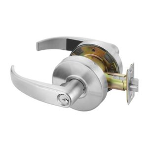 Yale Commercial PB4605LN626 Storeroom Pacific Beach Lever Grade 2 Cylindrical Lock with Para Keyway Satin Chrome Finish