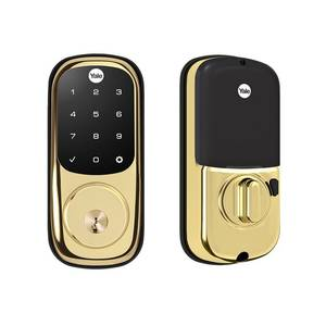 Yale Real Living YRD226HA2605 Assure Touchscreen Deadbolt with ZigBee Bright Brass Finish