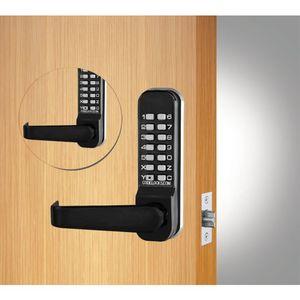 Codelock CL415BBFB Back to Back Tubular Keypad Lever Latchbolt Lock with Code Free Option Flat Black Finish