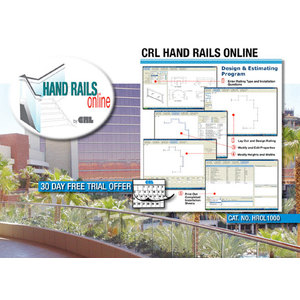 CRL HR0L1000 Hand Rails Online Web-Based Design Program