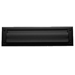 Baldwin 0015190 Letter Box Plate Satin Black Finish
