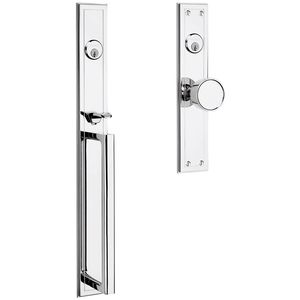 Baldwin 6946260DBLC Hollywood Hills Handleset Double Cylinder Entry Mortise Lock Trim Bright Chrome Finish