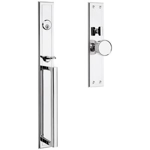 Baldwin 6946260FD Hollywood Hills Handleset Full Dummy Mortise Lock Trim Blank Plates Bright Chrome Finish