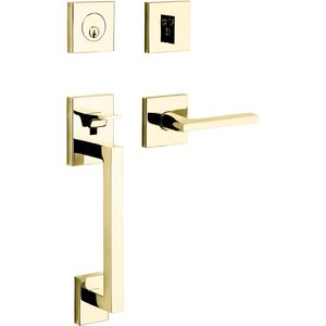 Baldwin 85390003LFD Minneapolis Sectional Left Hand Full Dummy Tubular Handleset with 5162 Lever Lifetime Brass Finish