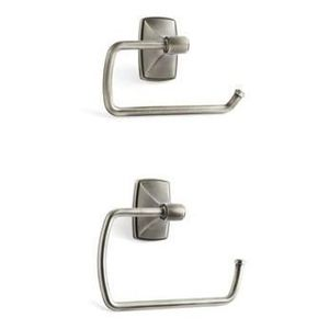 Amerock CLARENDONAS6 Bathroom Kit with BH26500AS Tissue Roll Holder BH26501AS Towel Ring Antique Silver Finish