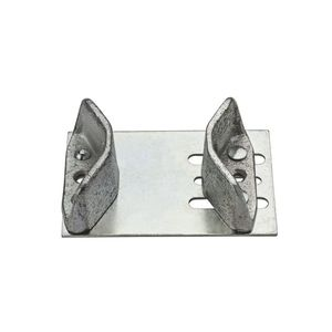 National Hardware N101048 20 Door Guide for Single Doors Zinc Plated Finish