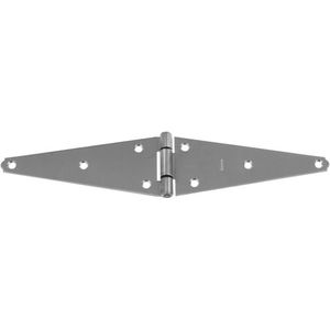 """National Hardware N342790-XCP10 BB281 8"""" Heavy Strap Hinge Stainless Steel Finish - pack of 10"""