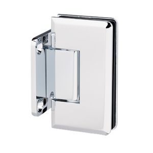 U.S. Horizon Mfg., Inc. HMBGTW50-C Majestic Series Glass To Wall Mount Shower Door Hinge With Short Back Plate W/ 5 Pin & 45 Configurations Polished Chrome