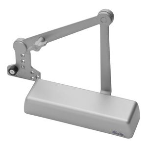 Yale Commercial 5821T689 Heavy Duty Hold Open Door Closer with Parallel Arm, Thumbturn, and Removable Stop Aluminum Finish