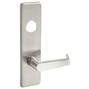 Yale Commercial AU426F630 Augusta Lever Escutcheon Cylinder Classroom / Storeroom Exit Device Trim Satin Stainless Steel Finish