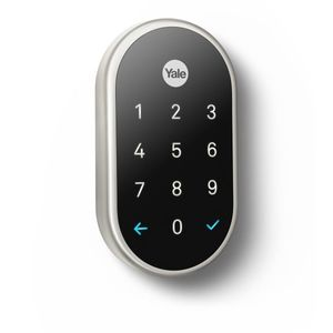Yale Real Living YRD540WV619 Standalone Nest x Yale Weave Lock Satin Nickel Finish