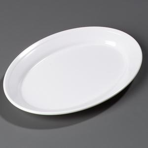 CARLISLE 4356002 Dallas Ware(R) Oval Platter 12 x 8-1/2 - White MELAMINE DINNERWARE